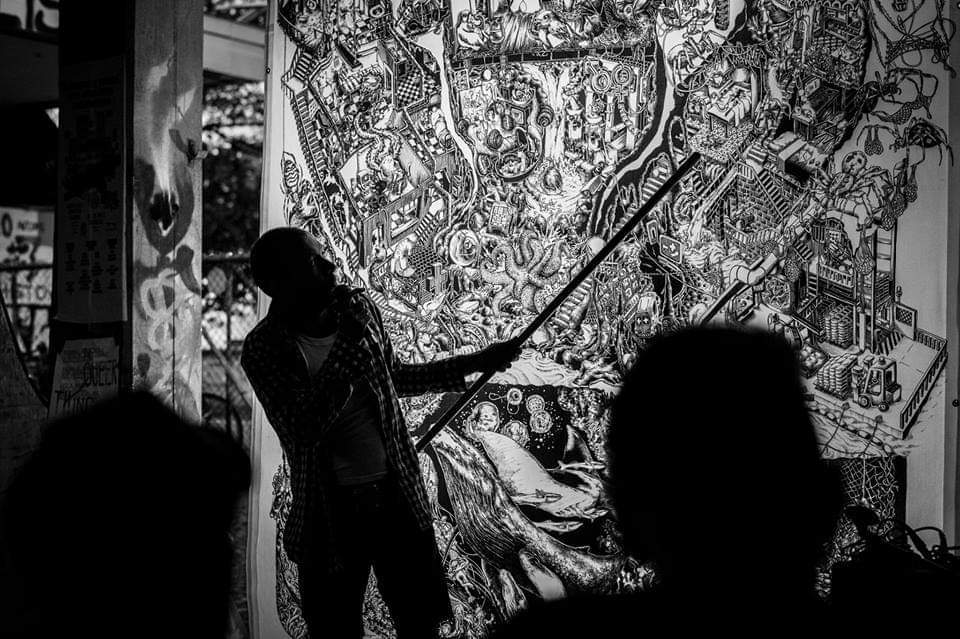北アメリカのアートとアクティビズム「Beehive Design Collective」を囲む会